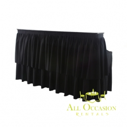 6' Bar with black draping