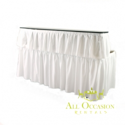 6' Bar with white draping