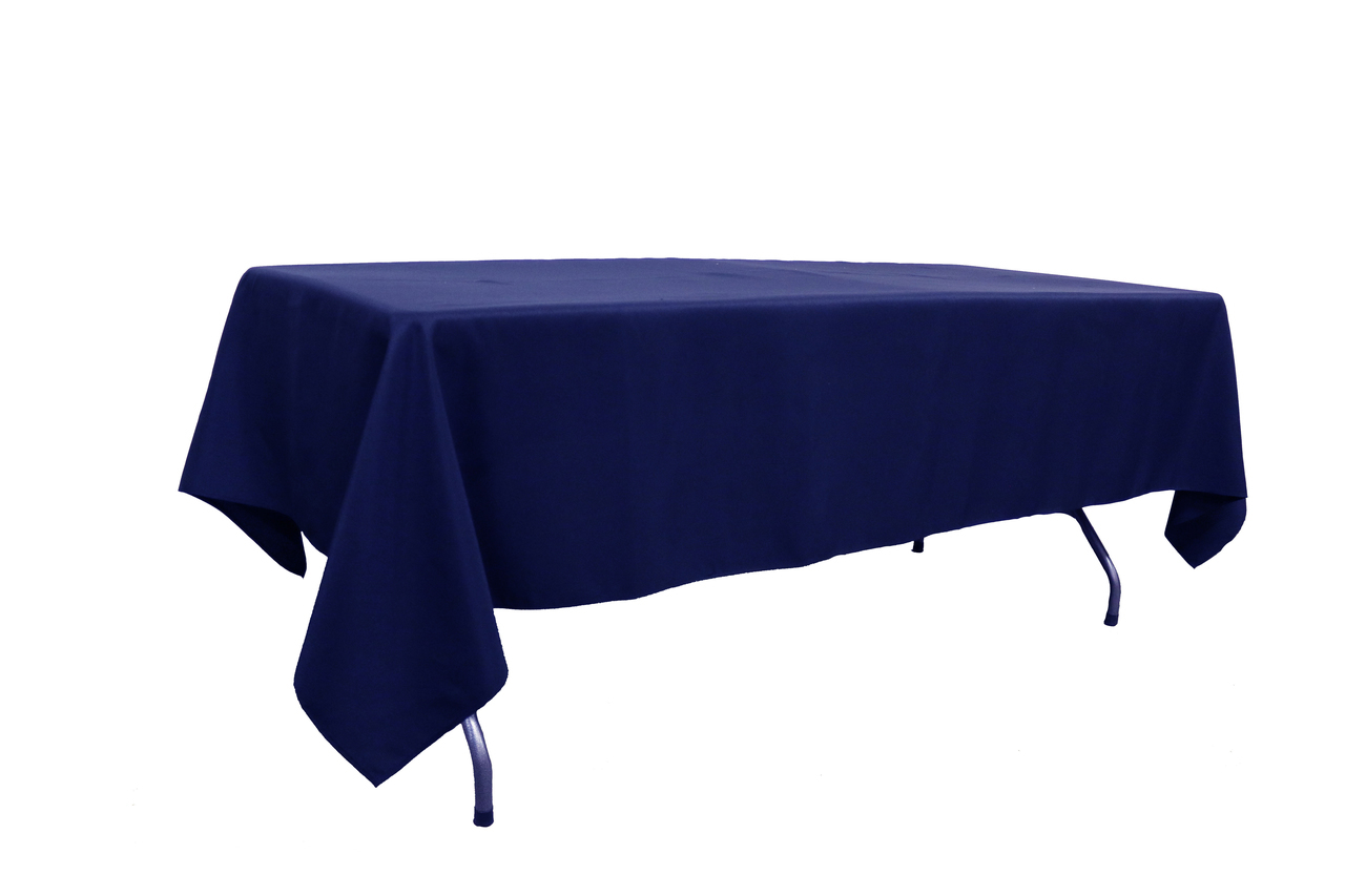 10 ft banquet table linen Navy Blue