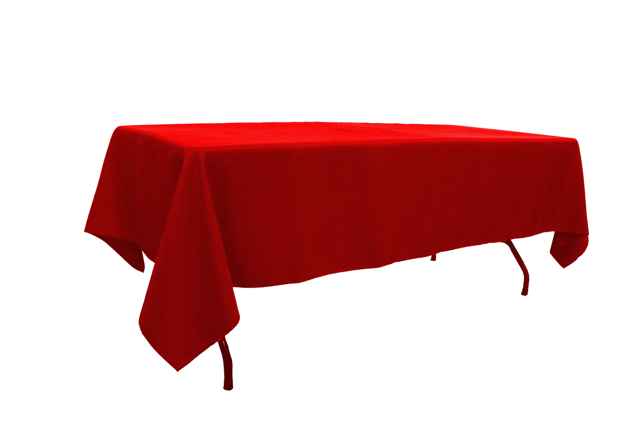 10 ft banquet table linen Red