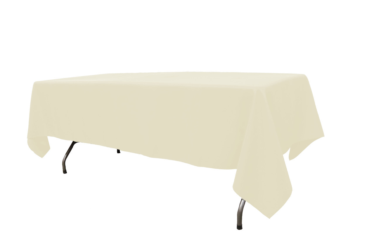 10 ft banquet table linen Ivery