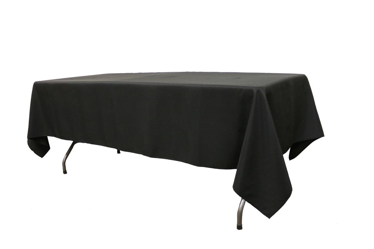 10 ft banquet table linen Black