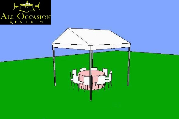 10' x 10' Frame Style Tent