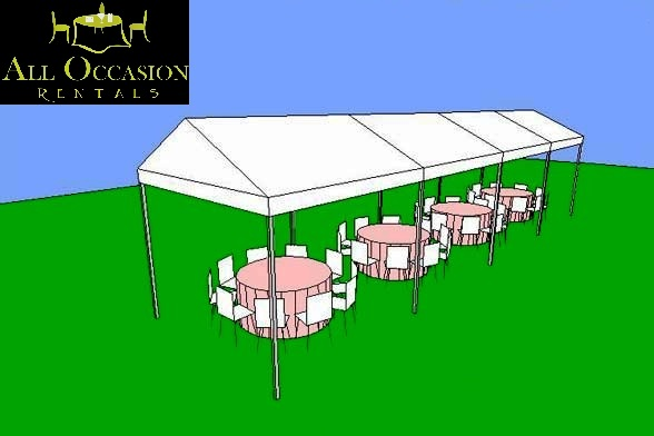 15' x 40' Frame Style Tent