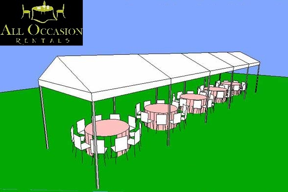 10' x 50' Frame Style Tent