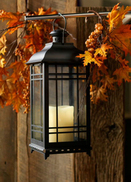 Black metal lanterns small