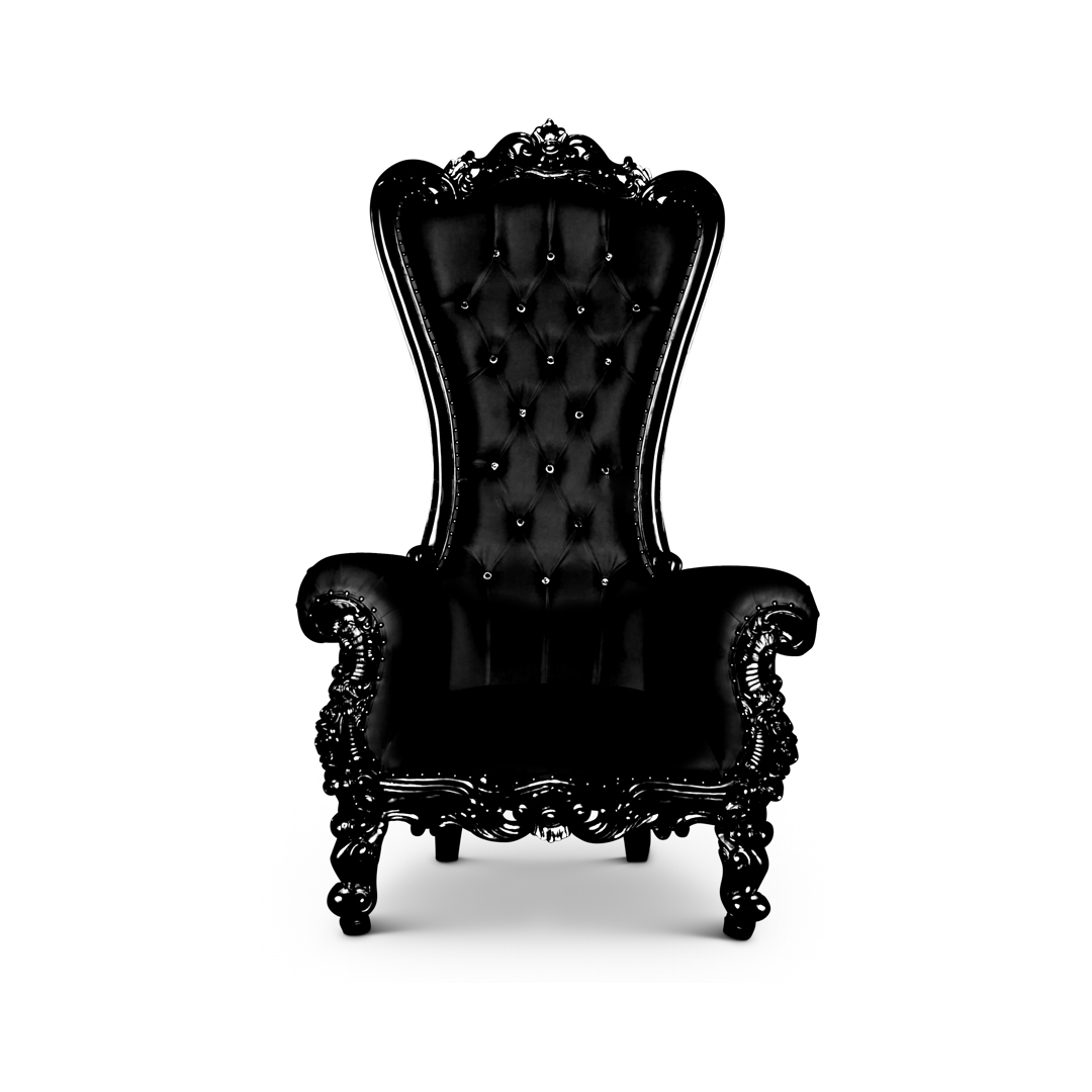 Throne Chair - Queen Chair Black/Black