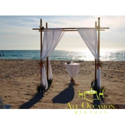 Bamboo Canopy for your beach or outdoor wedding