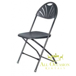 Fan Plastic Folding chairs Black