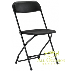 Plastic Folding Chairs Black