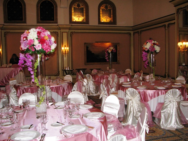 Satin Chair Covers Universal