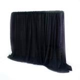 Pipe & Drape -15 ft High Black -per linear foot