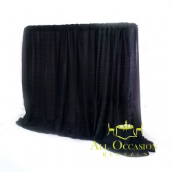 Pipe & Drape -8 ft High BLACK -per linear foot