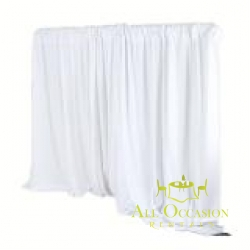 Pipe & Drape -8 ft High WHITE -per linear foot