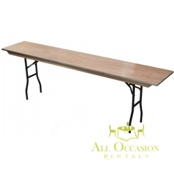 "Plywood Folding Seminar Table 18""x72"""