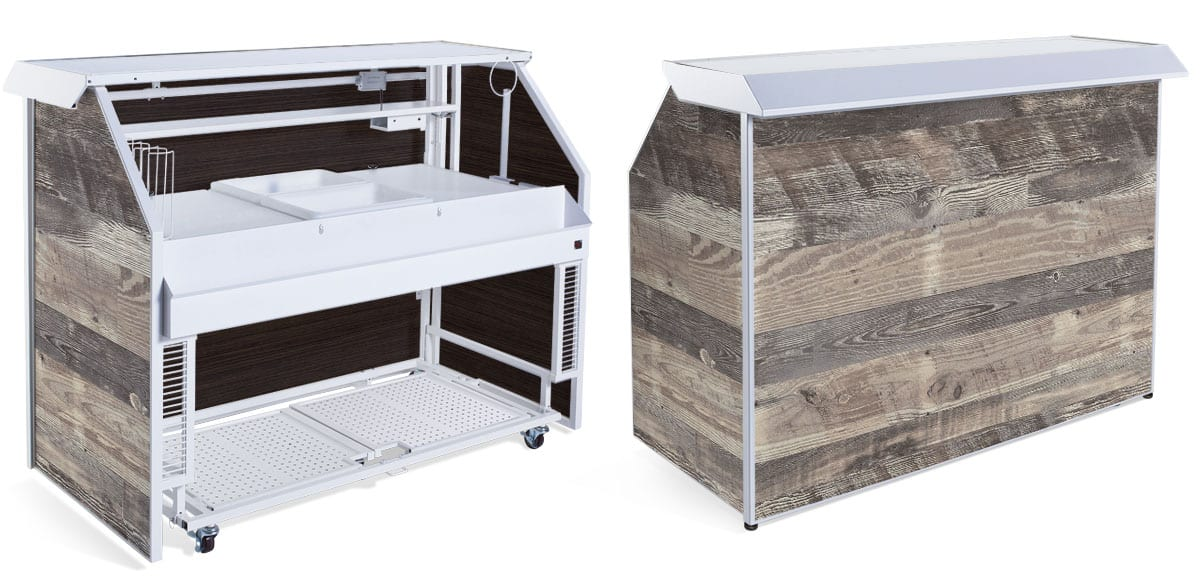 RUSTIC PROFESSIONAL PORTABLE BAR
