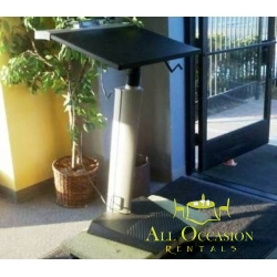Podium Stainless Steel w/ Black Top