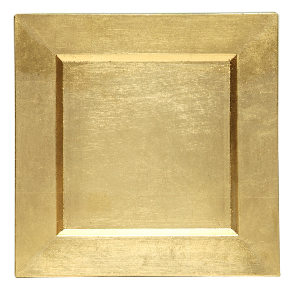 Square Gold Charger Plate