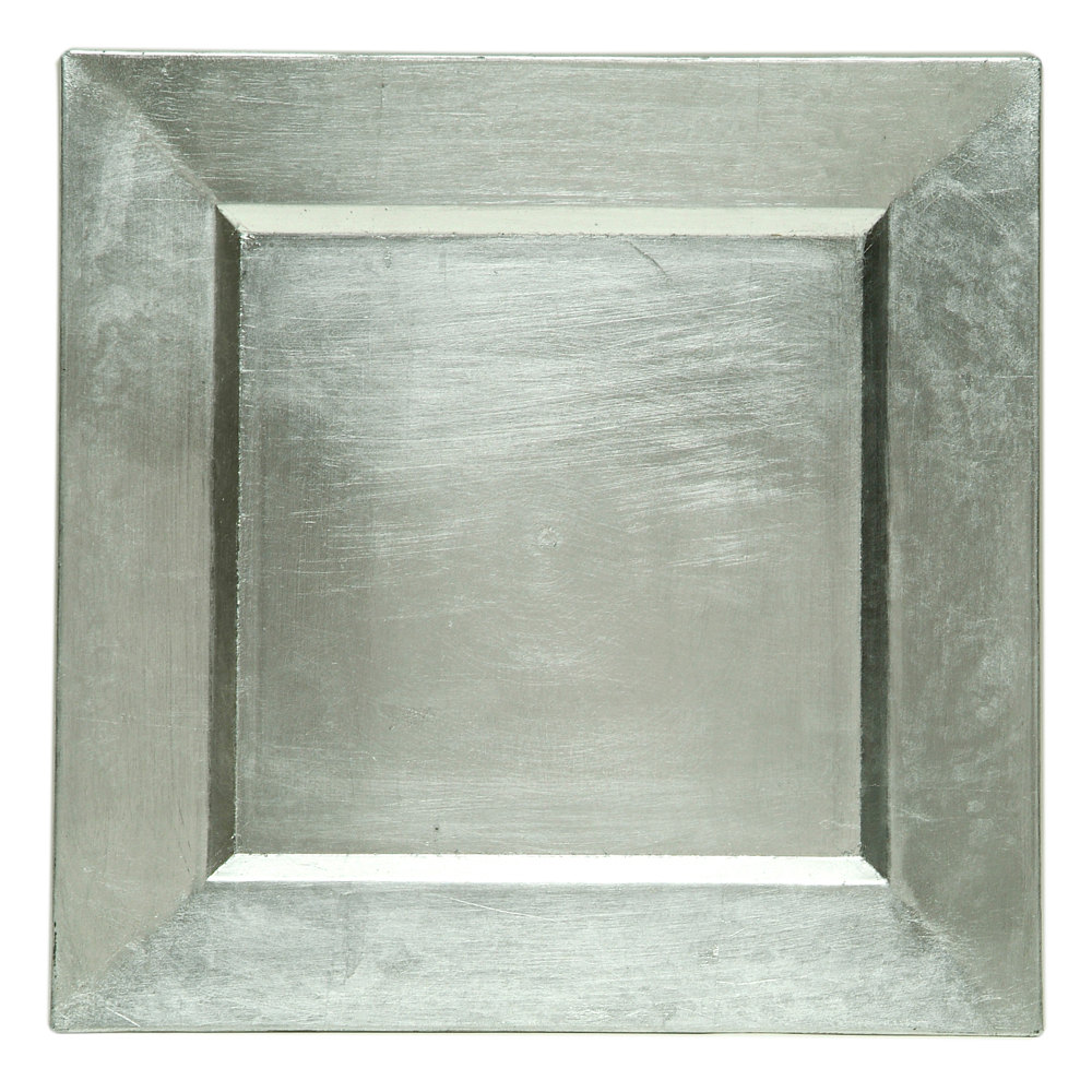 Square silver Charger Plate