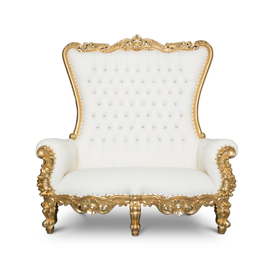THRONE LOVE SEAT GOLD