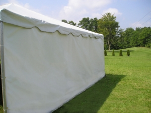 Tent White Sidewall 10' (Per linear foot)