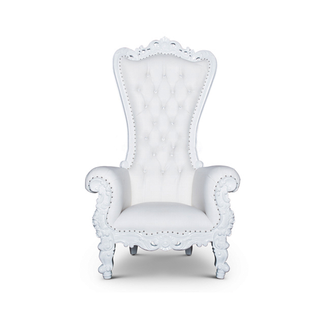 Throne Chair - Queen Chair White/White