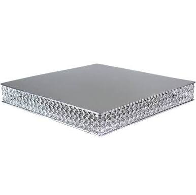 "20"" Square Crystal Cake Stand"