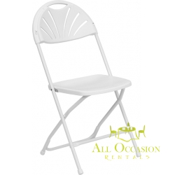 Fan plastic folding chairs White