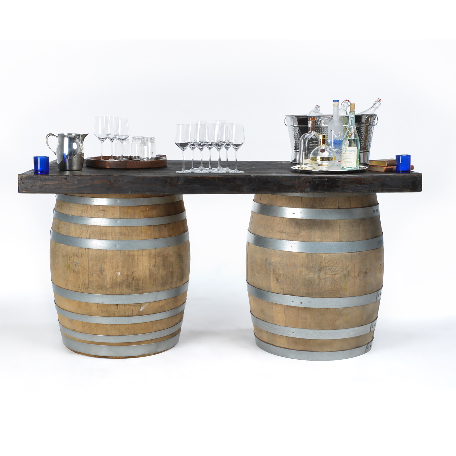 Wine barrel bar or table