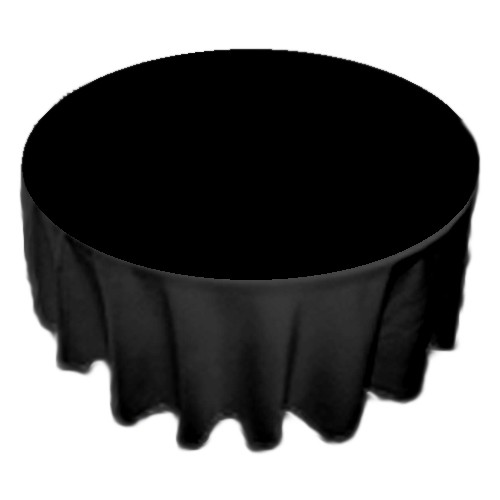 90 inch Round Polyester Tablecloth Black