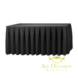 14ft Polyester Table Skirt Black