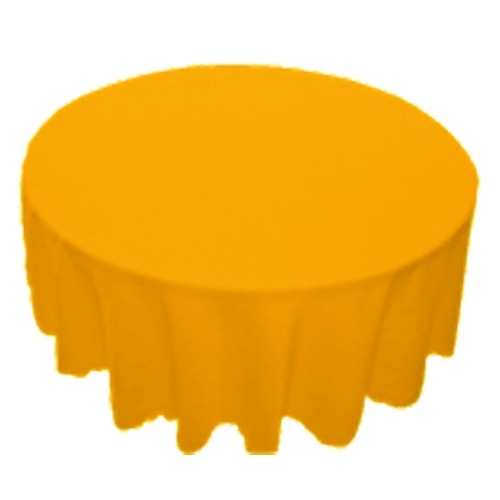 90 inch Round Polyester Tablecloth Gold