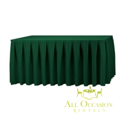 14ft Polyester Table Skirt Hunter Green