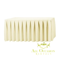 14ft Polyester Table Skirt Ivory