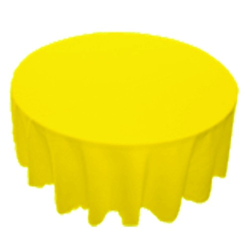 90 inch Round Polyester Tablecloth Lemon