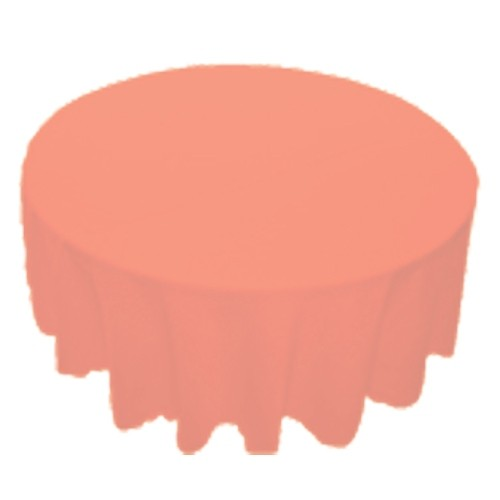 90 inch Round Polyester Tablecloth Peach