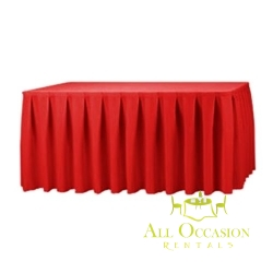 14ft Polyester Table Skirt Red