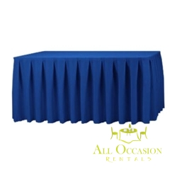 14ft Polyester Table Skirt Royal Blue