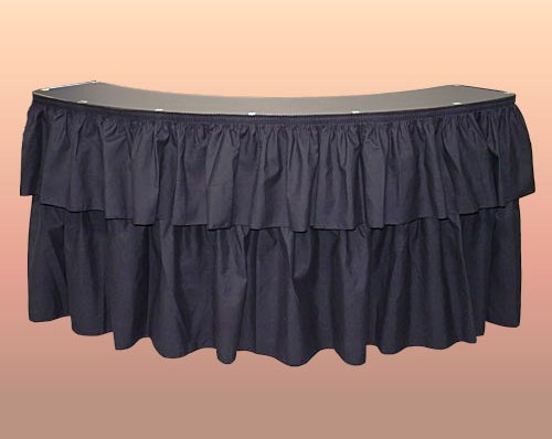 Sepentine Bar with Black Draping