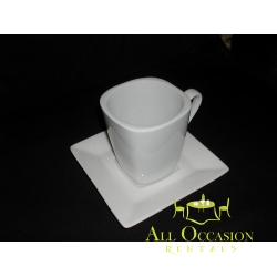 Shaped White Square Mug